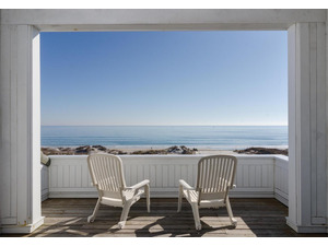 Enjoy ocean views from the top level porch area.