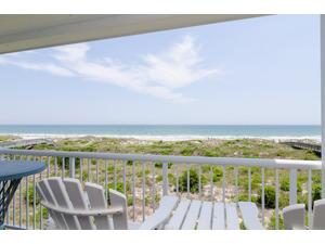 Oceanfront balcony.