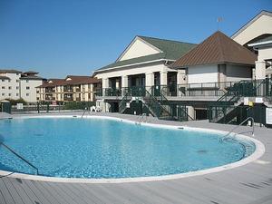 Islander Villas pool The Isles Restaurant