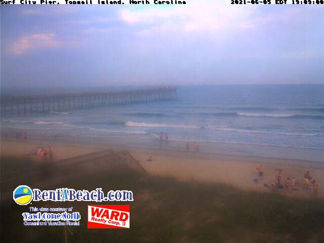 webcam view of Surf City Pier, Topsail Island